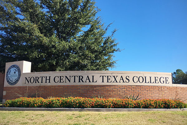 photo of North Central Texas College sign